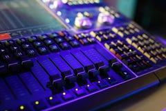 Consola de control compacta de la iluminación imagen de archivo