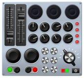 Consola de la mezcla o de control Fotos de archivo