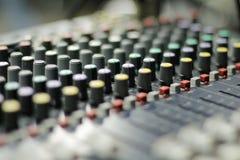 Consola de los sonidos imagen de archivo