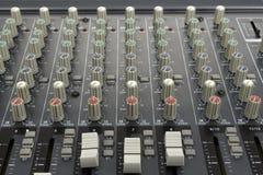 Consola de mezcla analogica Imagen de archivo libre de regalías