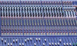 Consola de mezcla audio Fotografía de archivo