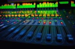 Consola de mezcla audio Fotos de archivo