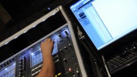Consola de mezcla audio Imagen de archivo libre de regalías