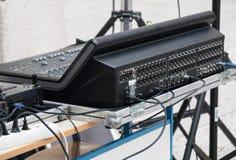 Consola de mezcla audio profesional imagen de archivo libre de regalías