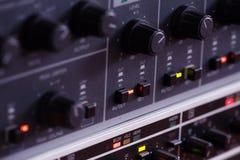 Consola de mezcla de la música Fotografía de archivo
