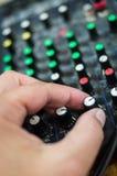 Consola de mezcla DJ fotografía de archivo