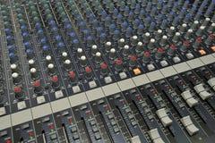 Consola de mezcla video audio del regulador Fotografía de archivo