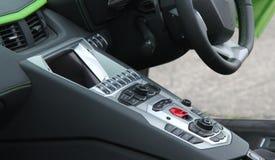 Consola del coche foto de archivo
