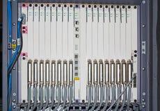 Consola del equipo de telecomunicación Imágenes de archivo libres de regalías