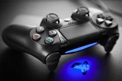 Consola del juego de Playstation 4 fotos de archivo