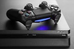 Consola del juego de Playstation 4 fotos de archivo libres de regalías