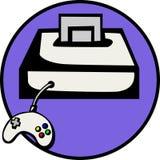 Consola del juego video stock de ilustración