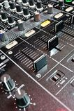 Consola del mezclador de DJ Foto de archivo libre de regalías