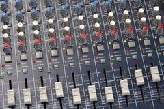 Consola del mezclador de sonidos Imagen de archivo
