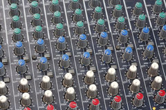 Consola del mezclador de sonidos Foto de archivo