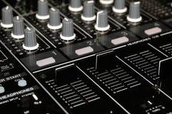 Consola del mezclador de sonidos Fotografía de archivo libre de regalías