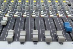 Consola del mezclador de sonidos Imagenes de archivo