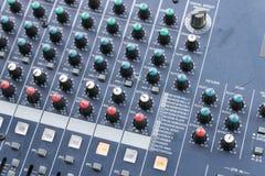 Consola del mezclador de sonidos Fotos de archivo libres de regalías