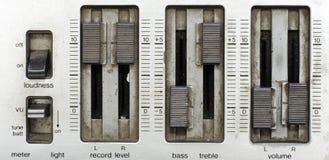 Consola del mezclador de sonidos de Grunge Imagen de archivo libre de regalías