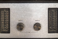 Consola del mezclador de sonidos de Grunge Fotos de archivo