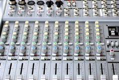 Consola del sistema de sonido imágenes de archivo libres de regalías