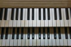Consola del teclado del órgano fotografía de archivo