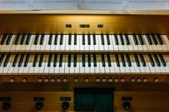 Consola del teclado del órgano foto de archivo libre de regalías