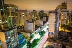 Consolacao avenue Royalty Free Stock Photography
