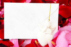 Consolation card. Condolences, consolation card with angel royalty free stock photography