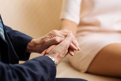 Consolation du patient Photo libre de droits