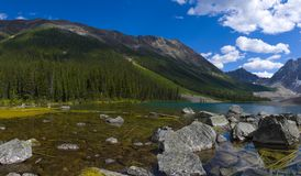 Consolation Lakes Panorama Royalty Free Stock Photos
