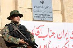 Consolato di Arbil Iran Immagine Stock