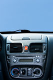 Console. New cars console on the blue sky background Stock Photography