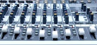 Console audio Photo libre de droits