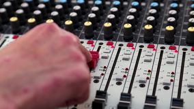 Console for audio production Stock Image