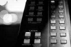 Console audio profissional dos seletores da camada de Digitas foto de stock