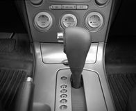 Console centrale. The center console car with automatic gearbox and handbrake Stock Images