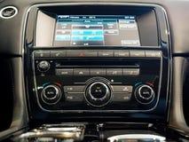 Console centrale d'une voiture de luxe illustration de vecteur