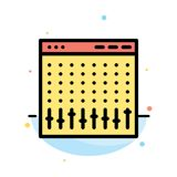 Console, Control, Controller, Hardware, Mixer Abstract Flat Color Icon Template stock illustration