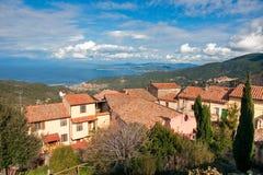 Console da Ilha de Elba. Italy. fotografia de stock