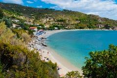 Console da Ilha de Elba, mar Mediterrâneo Foto de Stock Royalty Free
