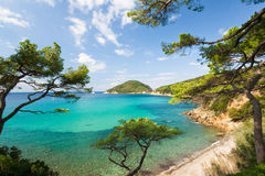 Console da Ilha de Elba, Toscânia, Itlay Foto de Stock Royalty Free