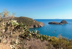 Console da Ilha de Elba, Toscânia, Itlay Imagens de Stock Royalty Free