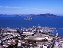 Console de Alcatraz, San Francisco, EUA. Imagens de Stock Royalty Free