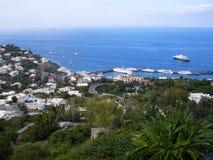 Console de Capri em Italy Foto de Stock
