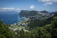 Console de Capri, Italy foto de stock