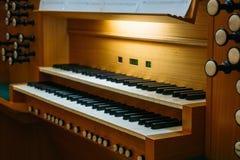 Console de clavier d'organe de tuyau image stock