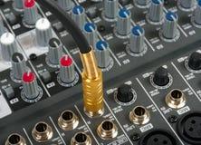 Console de controle audio imagens de stock