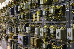 Console de controle elétrico no vault do transformador Imagem de Stock Royalty Free