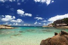 Console de Felicite. Seychelles fotos de stock